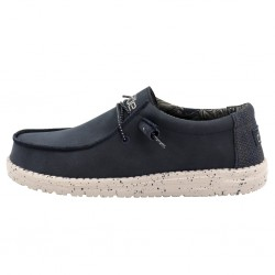 WALLY RECYCLED LEATHER - NAVY